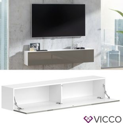 VICCO Lowboard JUSTUS Weiß Grau hochglanz - Fernsehschrank 160cm TV Fernsehtisch