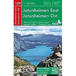 Jotunheimen Ost  Wander- Radkarte 1 : 50 000 - Buch