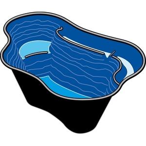 Ubbink Fertigteich Calmus SII Teichschale 220 Liter