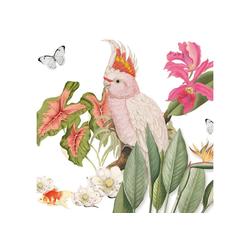 anna wand Bordüre Paradies - mehrfarbig auf weiß - selbstklebend, floral, selbstklebend