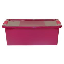 ONDIS24 Aufbewahrungsbox Aufbewahrungsbox mit Deckel Klipp Box M Lagerbox 24 Liter lila