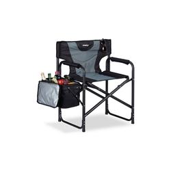 relaxdays Campingstuhl Regiestuhl gepolstert mit Kühltasche