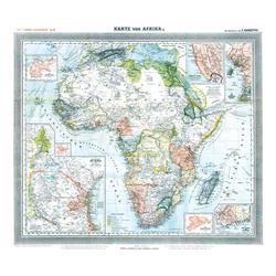 Historische Karte: Afrika 1890 (Plano)
