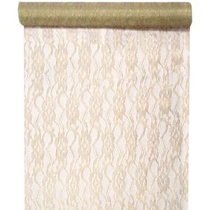 Tischläufer Spitze Lurex 28 cm x 5 m gold Tischdecken Tischdekoration Tischband