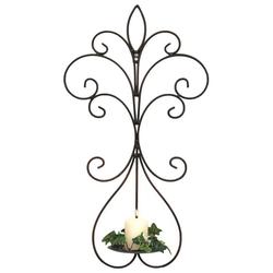 DanDiBo Wandkerzenhalter Wandkerzenhalter Metall Antik Schwarz 12107 Kerzenhalter Wand 58 cm Schmiedeeisen Kerzenleuchter Einzel