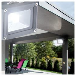 etc-shop Gartenstrahler, 2er Set LED 10 Watt Außenstrahler Beleuchtung Außenlampe Leuchte Baustrahler Wandleuchte