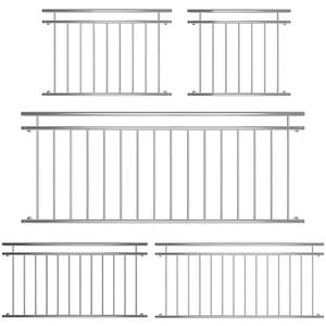 Melko Terrassengeländer 90 x 156 cm Balkongeländer Edelstahl V2A Fenstergeländer Geländer französischer Balkon