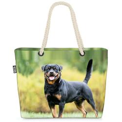 VOID Strandtasche (1-tlg), Rottweiler Beach Bag Rottweiler Hund Jagd Jagdhund Kampfhund Kampf Rasse Tier