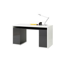 Schreibtisch mit Unterschränken  Iller ¦ mehrfarbig ¦ Maße (cm): B: 140 H: 75 T: 60