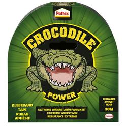HENKEL Klebeband (Pattex Crocodile Power Gewebeband schwarz 48,0 mm x 30,0 m 1 St) Von Hand einreißbar, alterungsbeständig, wetterfest