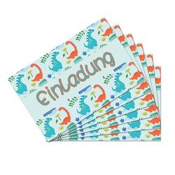 6 Dino Einladungskarten Kindergeburtstag Dinosaurier Party Einladungen