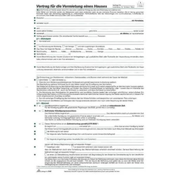 Vertrag für die Vermietung eines Hauses A4  8 Seiten