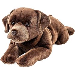 Teddys Rothenburg Kuscheltier Labrador dunkelbraun liegend 70 cm (Stofftier, Plüschtier, Hund)