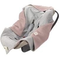 Lässig Einschlagdecke Babyschale, rosa