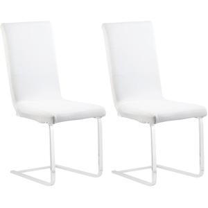 2er-Set Stretch-Stuhlhussen, OEKO-TEX® Standard 100, 42x42x60 cm, weiß