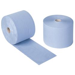Papier-Wischtücher blau auf Rolle 38 x ca. 24 cm.