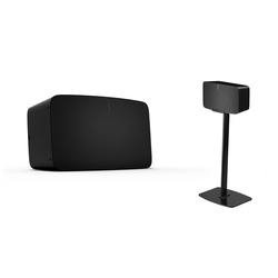 Sonos Five   WLAN Speaker inkl. Flexson Bodenständer schwarz (Sonos Five WLAN Speaker für Musikstreaming  ...)