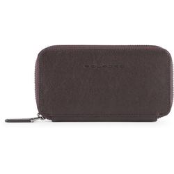 Piquadro Black Square Smartphone Pokrowiec  skórzana 17 cm dark brown