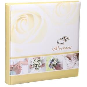 Unbekannt Ringe Hochzeit Fotoalbum in 30x30 cm 100 Seiten Jumbo Foto Album Hochzeitsalbum