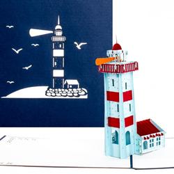 Colognecards Pop-Up Karte Leuchtturm