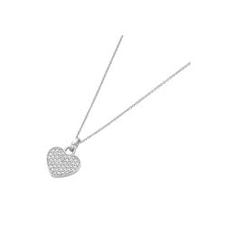 Smart Jewel Herzkette Herz mit Zirkonia, Silber 925