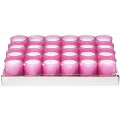 Refill Kerzen / Teelichteinsatz in Rosa, Ø50x65 mm, 24 Stück - Brenndauer ca. 24 Std.