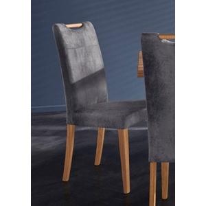 Home affaire Stuhl Roberta (Set, 2 Stück), Bezug aus strapazierfähiger Microfaser grau