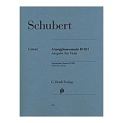 Sonate für Klavier und Arpeggione a-Moll D 821 (op. post.)  Fassung für Viola. Franz - Arpeggionesonate a-moll D 821 Schubert  - Buch