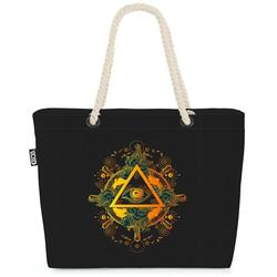 VOID Strandtasche (1-tlg), Auge Astrologie Mythologie Auge Astrologie Mythologie Freimaurer Vers