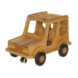 ERST-HOLZ Spielzeug-Auto 931-5005, Großes Holzauto Geländewagen Puppenauto Safari-Fahrzeug Holz-SUV 931-5005