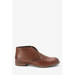 Next Halbhohe Schuhe aus Leder Stiefel braun 43