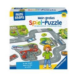 Ravensburger Puzzlematte ministeps® Mein großes Spiel-Puzzle: In der Stadt