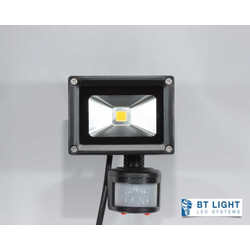 LED Fluter, LED Außenstrahler mit Bewegungsmelder, Scheinwerfer 10W (LED farben: NW neutrallweiß)