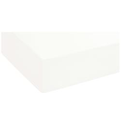 Biberna Topper-Spannbetttuch in weiß, 90 x 190 cm