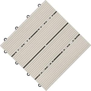 florco® Terrassenplatten, 30x30 cm, 6-St., Klickfliesen grau