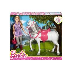 Mattel® Anziehpuppe Mattel DHB68 - Barbie - Puppe mit Pferd
