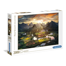 Clementoni® Puzzle Clementoni 32564 Tal in China 2000 Teile Puzzle, Puzzleteile bunt