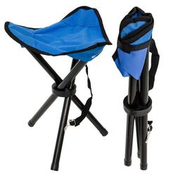 AMANKA Campinghocker Camping Hocker Klapphocker Angelhocker, Campinghocker Dreibein Stuhl Blau