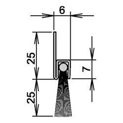 Athmer Bürstentürdichtung L.1250mm Rosshaar mixed Athmer