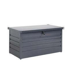 Storage Box Garden Metal 360L Lockable Gas Lift Chest Tool Box Outdoor 120 x 62 x 63 cm (47 x 24 x