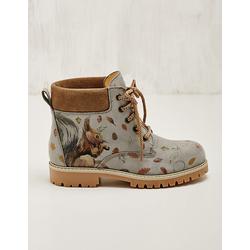 Deerberg Damen Leder-Stiefeletten Jamuna hellgrau Boots