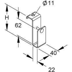Niedax Deckenbefestigungs-Bügel KRDB 60 F