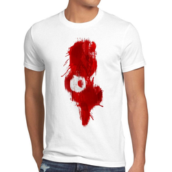 style3 Print-Shirt Herren T-Shirt Flagge Tunesien Fußball Sport Tunisia WM EM Fahne weiß XL