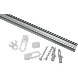 Gardinenschiene Aluminiumschiene, GARDINIA, Serie Aluminiumschiene Ø 13 mm Ø 1,3 cm x 180 cm