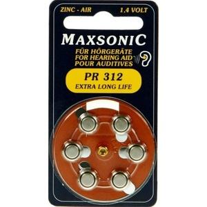 30x Hörgerätebatterien Maxsonic Typ 312 braun