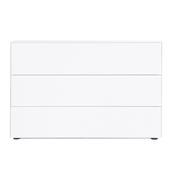Kommode F10 Go weiß, Designer form1, 77x120x48 cm