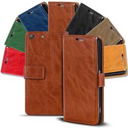 Retro Tasche für Sony Xperia M5 Hülle Wallet Case Handyhülle Vintage Slim Cover