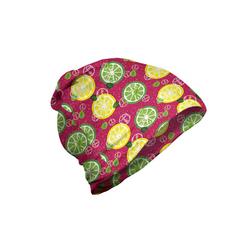 Abakuhaus Beanie Wandern im Freien Zitronen Geschnittene Citrus Lime Cubes