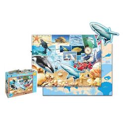 WWF Steckpuzzle WWF Kinderpuzzle Meerestiere (48 Teile), 48 Puzzleteile