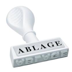 Textstempel -Ablage-